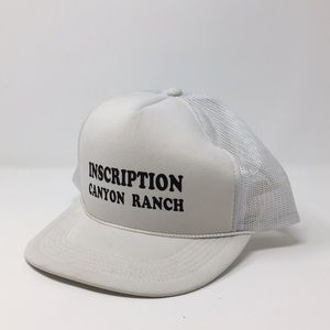 INSCRIPTION CANYON RANCH TRUCKER HAT WHITE